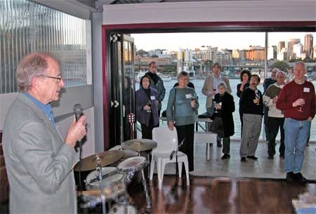 President Bob Armstrong proposing the birthday toast Photo: Bruce Davis