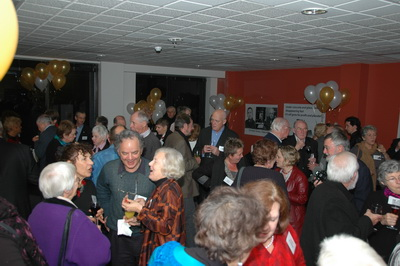 A view of the main room of the party