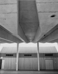 Bidura Auditorium (Source: Jenna Reed Burns, 'Heritage Assessment Bidura Children's Court', February 2016; http://brutalism.online/documents/BiduraChildrensCourtHeritageAssessment.pdf)