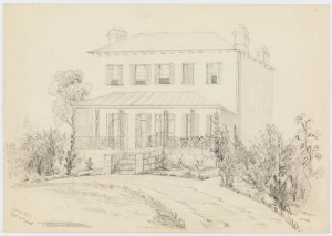 Bidura, sketch 1865 from Blacket family – pencil sketches and watercolours, 1863-1875, 1891, State Library of NSW