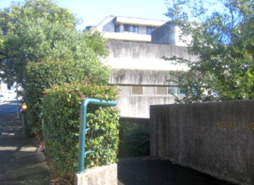 Built in the 20th century's 'Concrete Brutalist' style of architecture, the Children's Court and Remand Centre stretches from close behind Bidura to the property's boundary at Avon St.( images: Erica Robinson