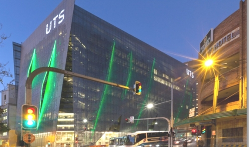 The new UTS building viewed from Abercrombie St. (Image: Andrew Worssam)