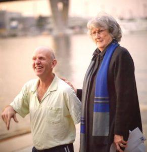 Mark Weisser and Deputy Lord Mayor, Robyn Kemmis (image: Tom Psomotragos)