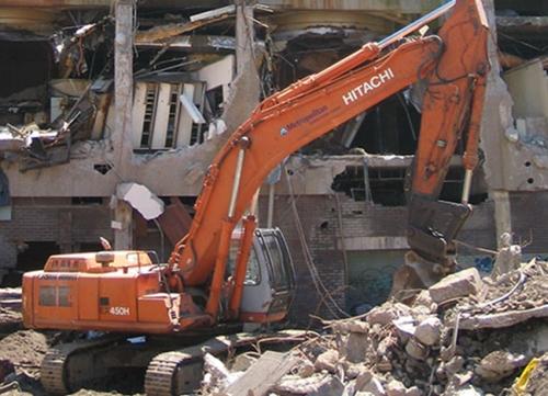 The demolition of the Cowper St public housing complex (image: http://www.aver.com.au/)
