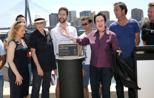 Glebe foreshore walk is officially opened by the Lord Mayor (image: http://www.cityofsydney.nsw.gov.au/)