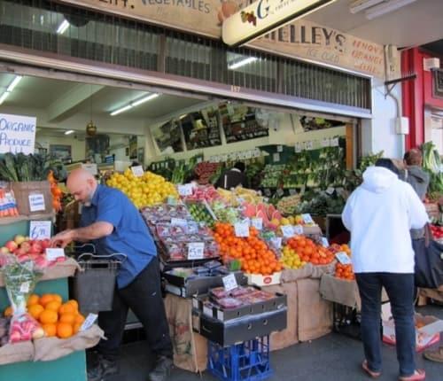 Joe arranging his fruit outside Galluzzo's (Image: Jan Macindoe)