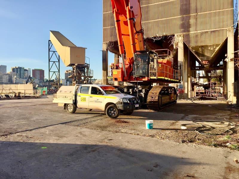 Hanson concrete batching plant demolition (photo: Phil Vergison)