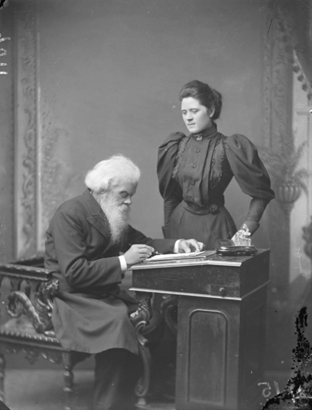 Parkes, Sir Henry, and his third wife Julia, 1895 ~ Parkes, Sir Henry, and his third wife Julia, 1895 (ON 219/415) State library of NSW.