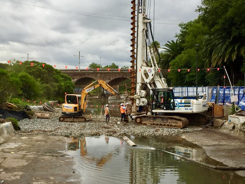 Johnstons Creek works, May (photo: Phil Vergison)