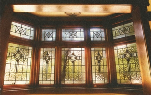 Leadlight window, Mansfield St Glebe (Source: Martin Lawrence )