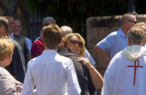 The funeral of Michael Hurley at St James' Church Glebe (image: Wade Laub, SMH)