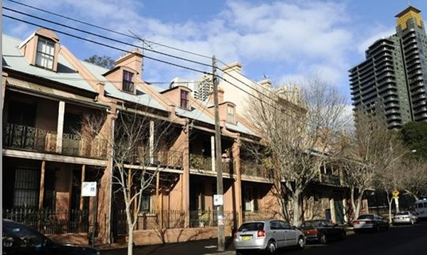 Government sell-off: Millers Point public housing along Kent St. Picture: Phil Rogers. Source: News Limited