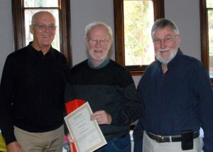 President John Gray, Peter and Bruce Davis who proposed Peter's Commendation.