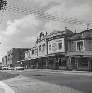 Looking south along Ross St, Forest Lodge, from Bridge Rd 1962 City of Sydney Archives (SRC 11435)