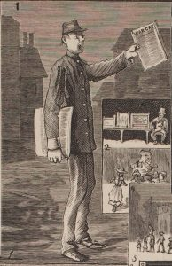 Selling the War Cry on Saturday night at Paddy's Market, 1884