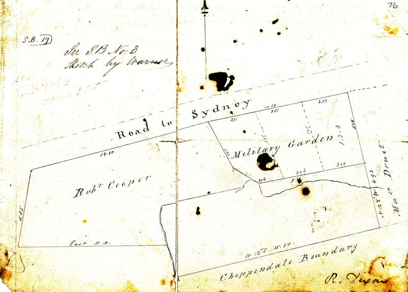 The Surveyor-General's sketch which Robert Cooper ignored (NSW State Records)