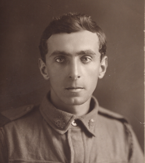 Private Wilfred William Barber attended Glebe Public School and University of Sydney. He is commemorated on the War Memorial in Glebe (image supplied by Liz Gillroy)