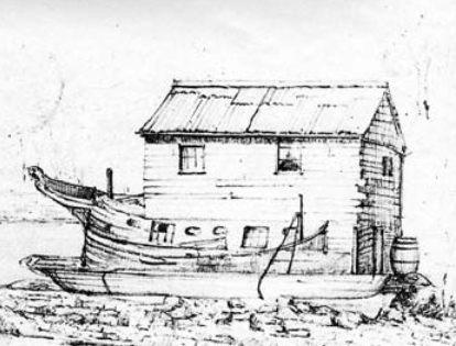 The Suggate family's 'Noah's Ark', sketched in the 1860s.