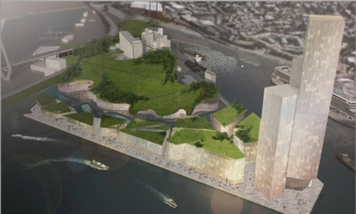 Is this the sort of development the people want for our foreshores? An artist's impression of developments planned for the Bays Precinct. (Image: http://news.domain.com.au).