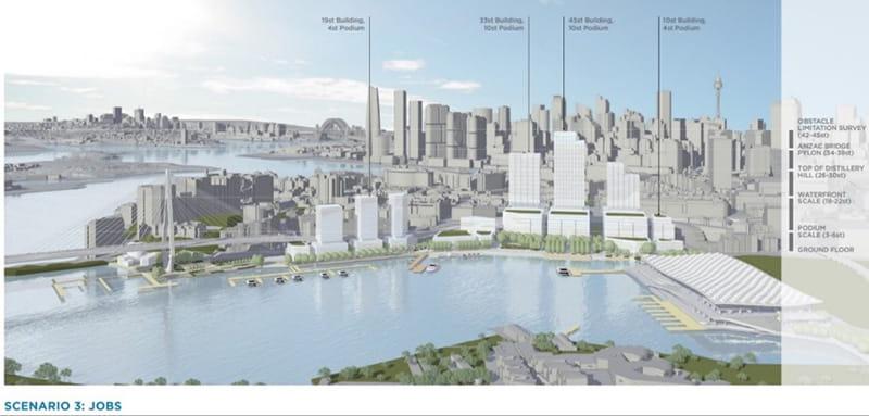 Blackwattle Bay Precinct Planning Scenario 3 (photo: Infrastructure NSW)